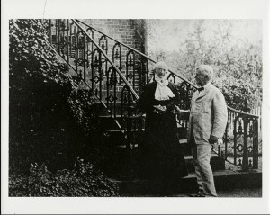 Amelia Gayle Gorgas and William Crawford Gorgas on the Gorgas Steps, 1910, University of ALabama, Hoole Special Collection Library