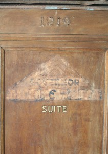 Door to George Wallace's Suite at the Thomas Jefferson Hotel,  Naaman Fletcher(photographer), Birmingham AL,  2009.
