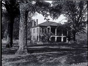 fig. 5. Gorgas House, 1897(?), shortly after portico is extended, Hoole Special Collections Library, University of Alabama