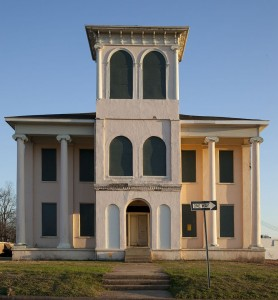 Figure 1: John Drish House, 1837 (tower later addition c.1850). Front façade view. Captured March 4, 2010. Author: Carol M. Highsmith. Accessed thought Wikimedia: http://commons.wikimedia.org/wiki/File:Drish_House_Tuscaloosa_02.jpg.