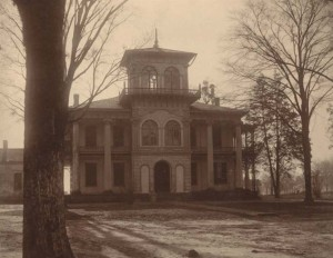 Figure 11: John Drish House, 1837 ( tower later  addition c.1850). Front façade view with original iron work decoration. Captured in 1911. Author: The Alabama Department of Education. Accessed through Wikimedia: http://commons.wikimedia.org/wiki/File:Drish_Mansion_1911.jpg.
