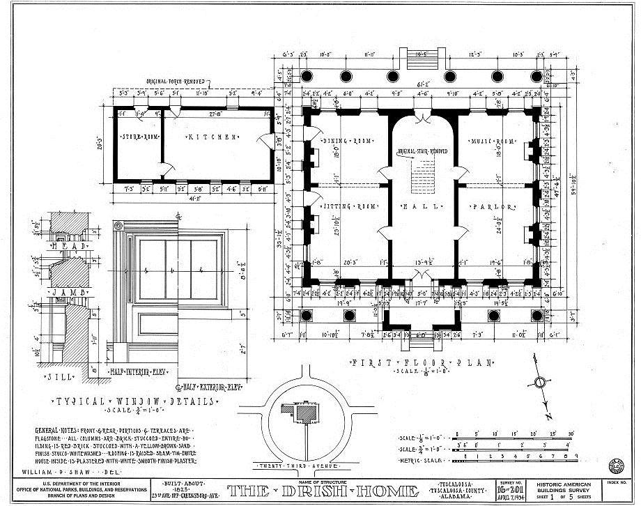 The john r drish house tuscaloosa al alabama architecture for House plans alabama